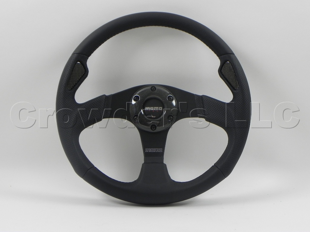 MOMO Steering Wheel - Jet Black - Leather Carbon Fiber - Part # JET35BK0B at Sears.com